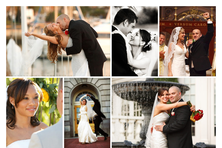 Photos of love and joy on the wedding day